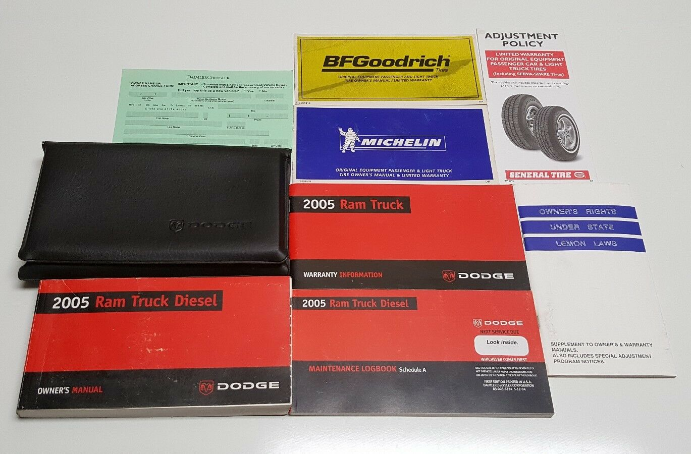 2005 DODGE RAM CUMMINS DIESEL 5.9 L OWNERS MANUAL 4X4 LARAMIE SLT ST 2500 3500 S