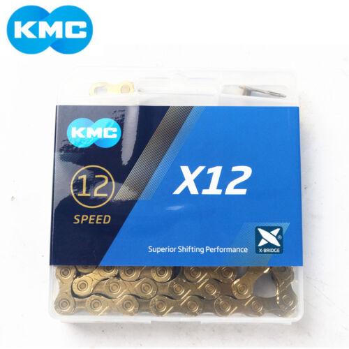 KMC X12 12 Speed MTB Mountain Road Bike Chain 126L Bicycle Chain Gold