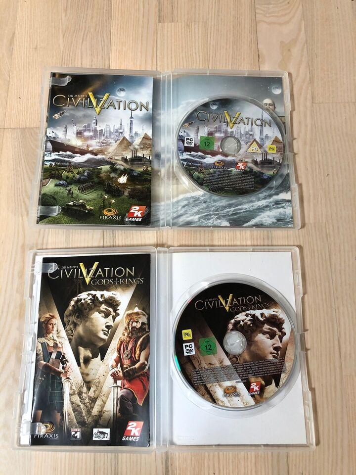 Civilization V og Civilization V Gods & Kings, til pc,