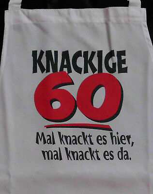 Knackig 60 Schürze Für Erwachsene Geburtstag Scherzartikel Grill Koch Gag