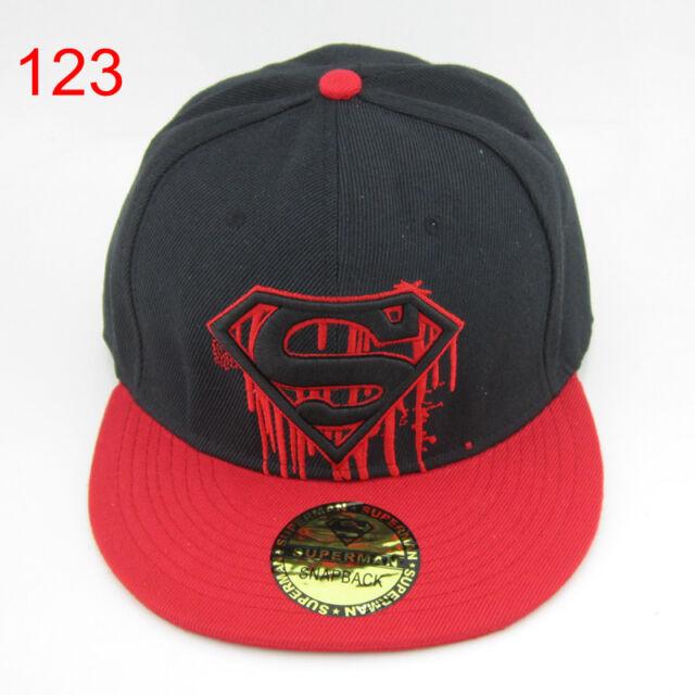 New DC Superman Snapback Adjustable Baseball Cap Flat Hat Hiphop Street Cosplay