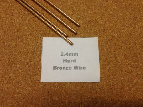 1m Length 1.6mm 2.4mm 3.2mm  Bronze Jewellery Craft Wire Model Making 3-sizes