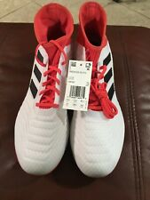 d3f29186b66 item 3 New Men s Adidas Predator 18.3 FG Soccer Cleat White Black Real  Coral Size 12 -New Men s Adidas Predator 18.3 FG Soccer Cleat White Black  Real Coral ...