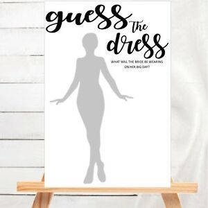 image is loading bridal shower game guess the dress hens night