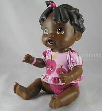 Hasbro Baby Alive All Gone African American Doll Talking Baby Molded Hair