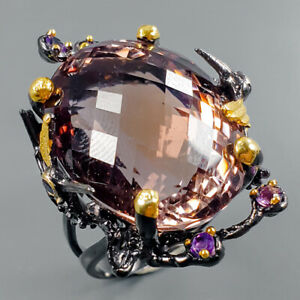 Lover-jewelry-Design-Natural-Ametrine-925-Sterling-Silver-Ring-Size-8-R95518