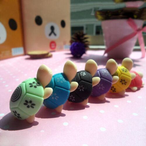 2//5//10pc Cute Turtle Cartoon Toy Kids Creative Eraser Tortoise Stationery Rubber