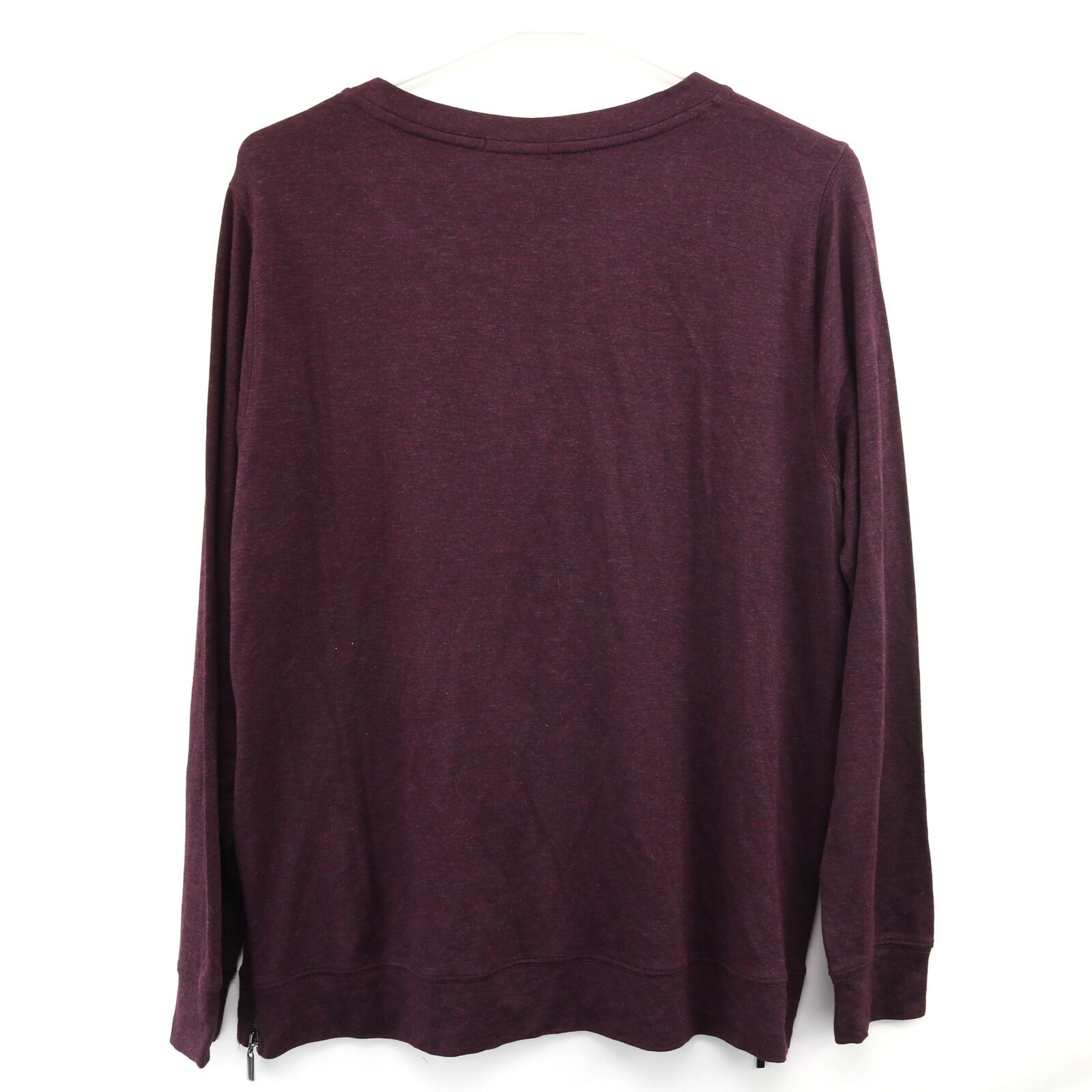 Matty M Women/'s Long Sleeve Tee with 2 Side Zippers