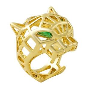 Tiger-Face-3D-Wire-Baller-Bling-Gold-CZ-Hip-Hop-Mens-Ring