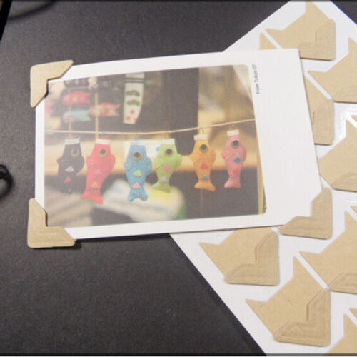 24pcs Handmade Retro Self-adhesive Photo Corner Stickers Scrapbook Album Decor