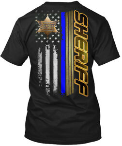 Custom-made-Sheriff-Flag-Hanes-Tagless-Tee-T-Shirt-Hanes-Tagless-Tee-T-Shirt