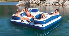 Intex Inflatable Floating Island 5-Person Party Lounge River Lake Raft Float New