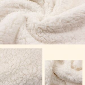 Faux Sherpa Fleece Fabric Thick Thermal Blanket Coat Jacket Lining Material Trim