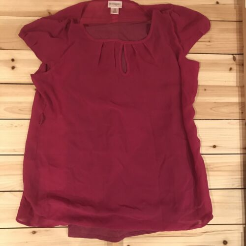 Motherhood brand Maternity shear rose blouse