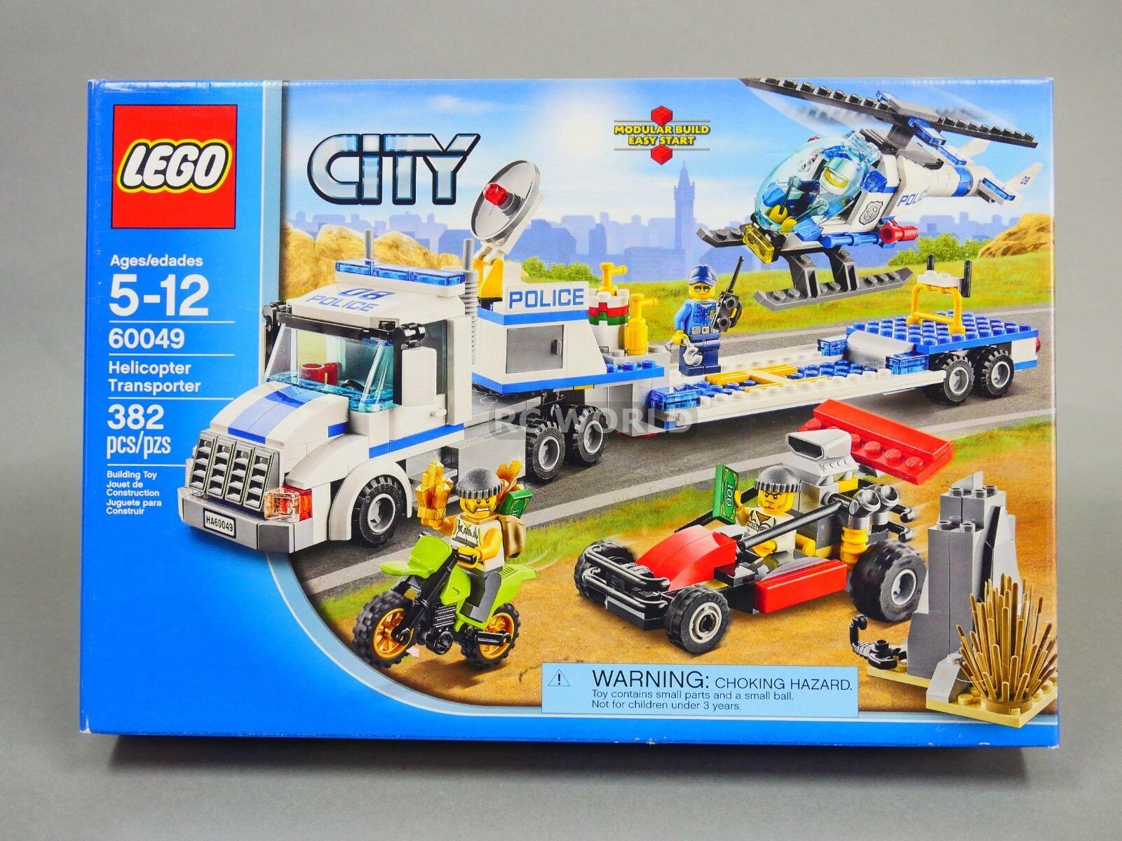 Lego Stadt Hubschrauber Transporter Lkw 60049  oa1