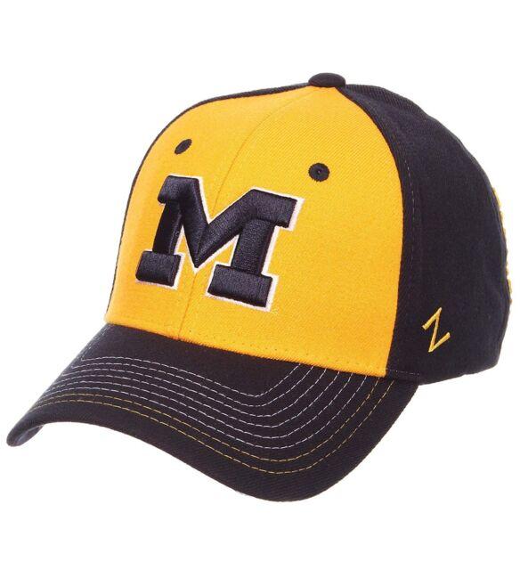 buy online a966c 48cb9 New Michigan Wolverines Zephyr Brand Stitch Hat Cap Size Medium Large