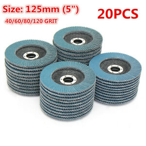 20PCS-125mm-5-039-039-Flap-Discs-Wheels-Grinding-Sanding-40-120-Grit-Angle-Grinder