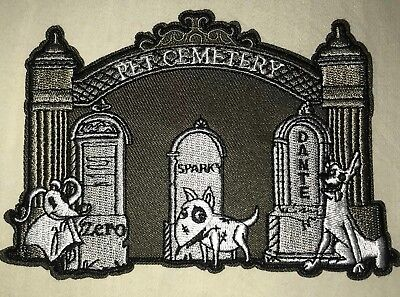 Nightmare Frankenweenie Coco Disney Dogs Pet Cemetery Embroidered Iron On Patch Ebay