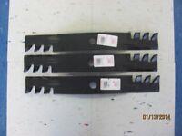 3 Usa Made Blades For John Deere 54 Cut M136195 Tcu30316- Commercial Mulchers