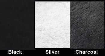 """Sheepskin Motorcycle Seat Cover 18/"""" x 18/"""" Charcoal Large Buttpad"""