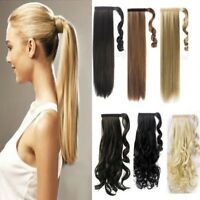 Real Thick Wrap Around Ponytail Ponytail Clip In Hair Extension Natural Looking