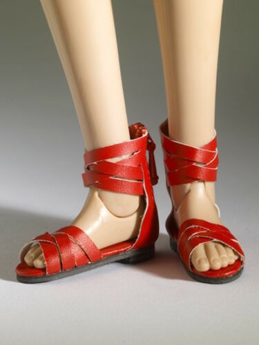 TONNER DOLL  NU MOOD COLLECTION  RED SANDALS ANKLE STRAPS #4  NRFB W//SHIPPER