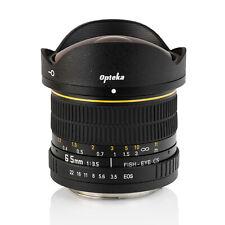 Opteka 6.5mm Fisheye Lens for Canon EOS 7D 6D 5D SL1/2/3 T7i T6i T6s T6 T5i T5