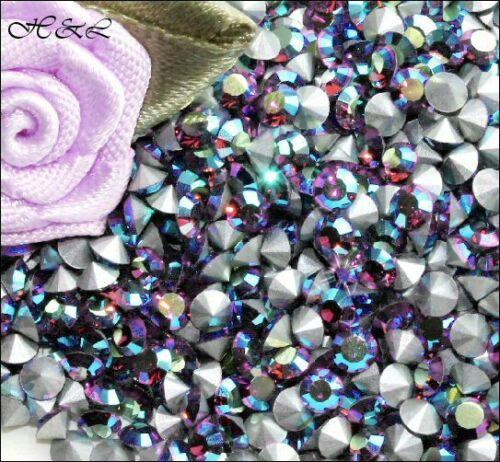 SWAROVSKI AMETHYST AB Crystal Chatons 1012 déjouée pointe 2 mm 3 mm 2.5 mm bijoux