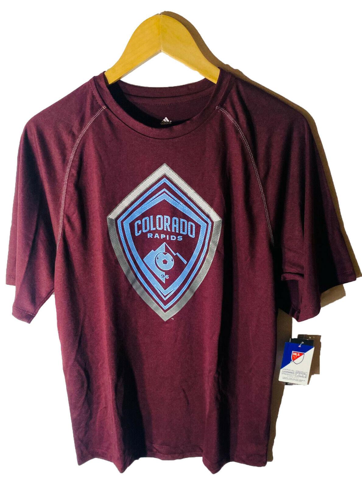 adidas Men's Colorado Rapids ClimaLite Light Up Short-Sleeve T-Shirt SMALL