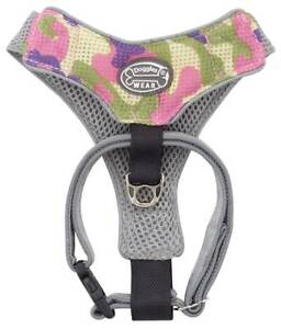 V-Mesh-Puppy-Dog-Comfort-Harness-Pink-Camo-XXS-XS-Small-amp-Medium