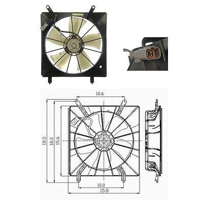 Radiator Fan Assembly Engine Cooling Fits 2002-2006 Honda CRV CR-V L4 2.4L