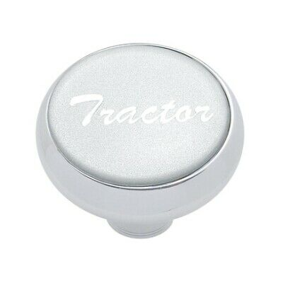 """United Pacific 23405 /""""Tractor/"""" Deluxe Air Valve Knob Silver Glossy Sticker"""