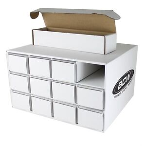 1x-BCW-Card-House-with-12x-800-Count-Corrugated-Cardboard-Storage-Boxes