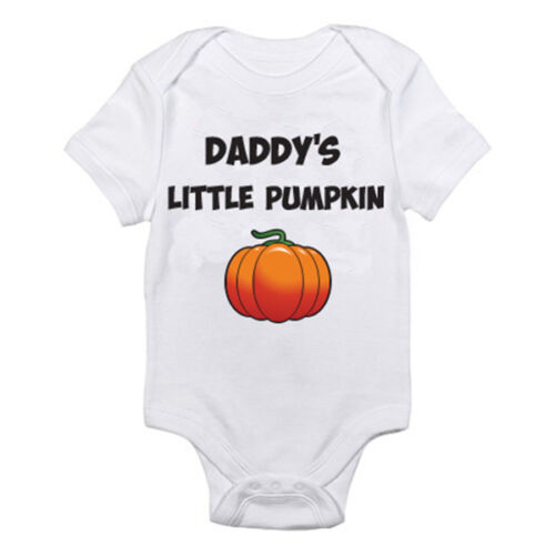 Dad DADDY/'S LITTLE PUMPKIN Father Fun Themed Baby Grow //Suit Halloween