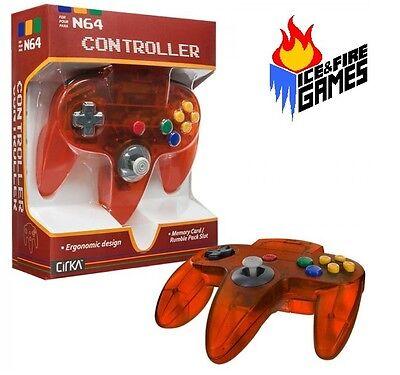 Funtastic Fire Orange N64 Gamepad Controller - New in Box (Nintendo 64)