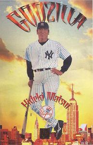 2003-Hideki-Matsui-034-Godzilla-034-New-York-Yankees-Original-Starline-Poster-OOP