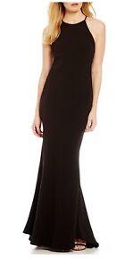 Calvin Klein Crepe Halter Gown Black Sizes 8 Ebay