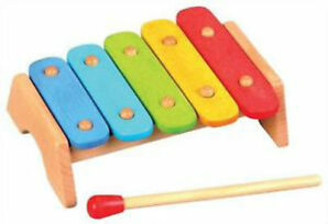 LELIN WOODEN WOOD RAINBOW XYLOPHONE CHILDRENS KIDS MUSICAL INSTRUMENT TOY +12M
