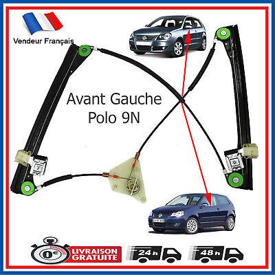 Vw polo 9 N Arrière Gauche Lève vitre Kit de réparation complet 2001-2009