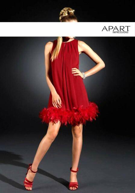 Chiffon Abendkleid Mit Federboa Rot Von Apart 32 Gunstig Kaufen Ebay
