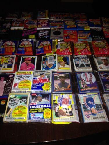 Impresionante Lote 600 Sin Abrir Antiguo Vintage Multi Sport Cards En Cera Cello Rack Packs