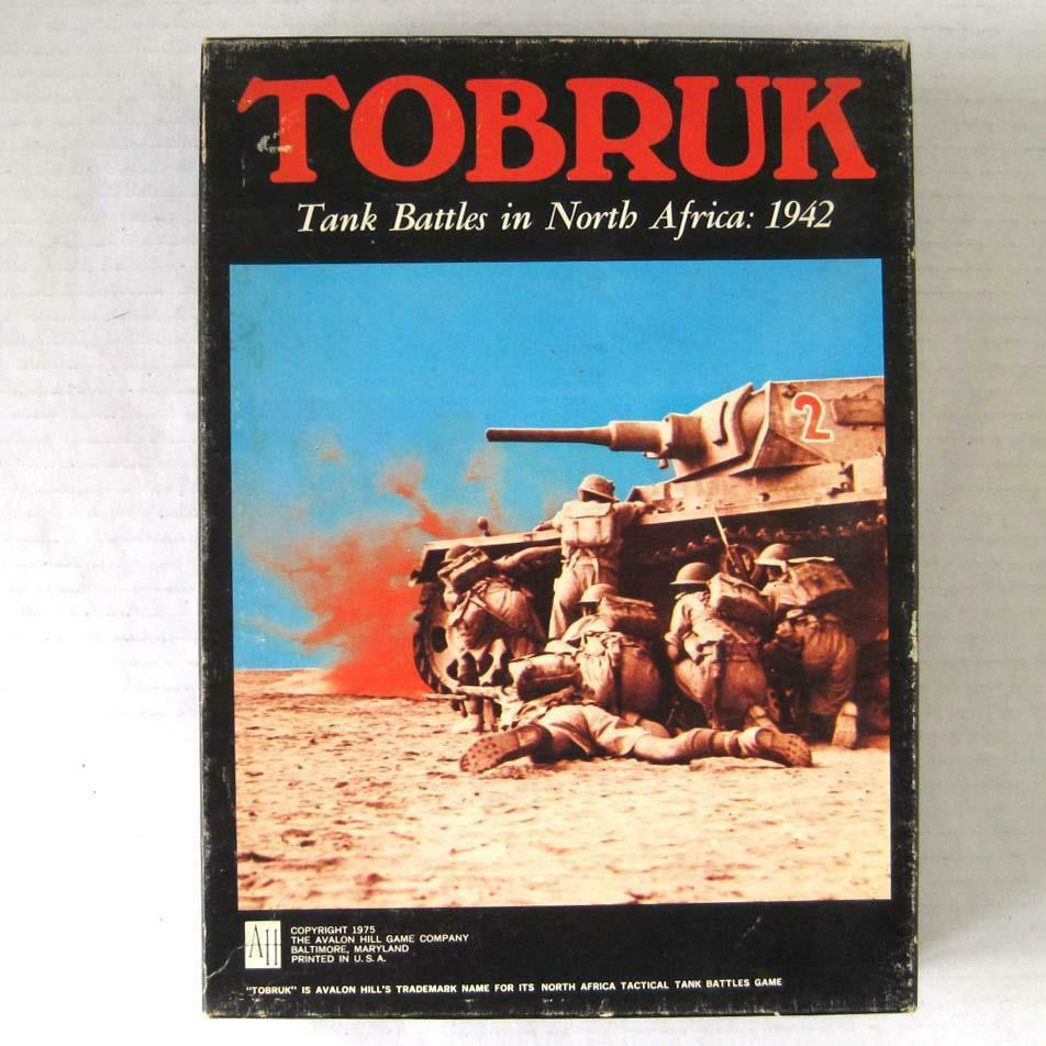 Jahrgang 1975 avalon hill tobruk bücherregal spiel panzerschlacht in nordafrika 1942