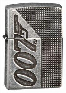 Zippo-Armor-Antique-Silver-Plate-James-Bond-007-Windproof-Pocket-Lighter-49033