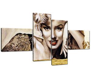 Quadro Moderno su Tela Quadri Moderni XXL cm 200x100 Marilyn ...