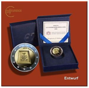 2-Euro-Gedenkmuenze-Malta-2015-Coin-Coins-034-Republik-034-PP-Proof