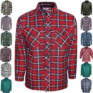 MENS-PADDED-LUMBER-JACK-SHIRT-CHECK-QUILTED-THICK-FLEECE-LINED-WORKWARM-WINTER