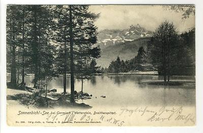 Wetterstein Sonnenbichl-see Willensstark Ak Garmisch 1903