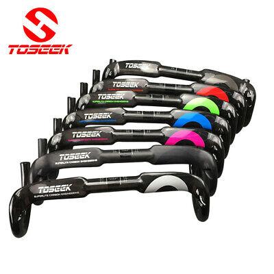 TOSEEK 400//420//440mm Carbon Fiber Road Bike Handlebar Racing Drop Bars Stem