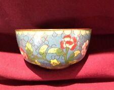Antique, Asian Antiques, Tea cup, Cloisonne, Blue floral,1850-1899,signed, China