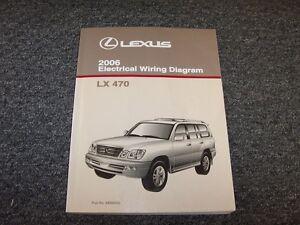 2006 lexus lx470 suv factory original electrical wiring diagram rh ebay com 2008 Lexus LX470 2006 lexus gx470 owners manual pdf